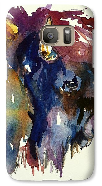 Galaxy Case featuring the painting Colorado Buffalo by P Maure Bausch