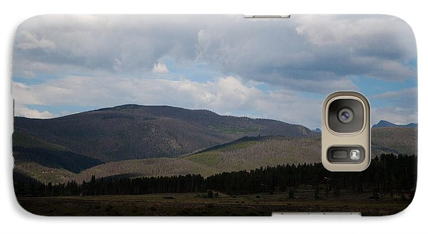 Galaxy Case featuring the photograph Colorado Cattle Graze by Shirley Heier