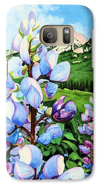 Galaxy Case featuring the painting Colorado Summer Blues Close-up by Barbara Jewell