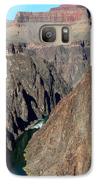 Galaxy Case featuring the photograph Colorado River From Plateau Point by Scott Rackers