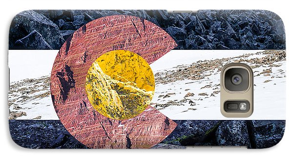 Colorado State Flag With Mountain Textures Galaxy S7 Case
