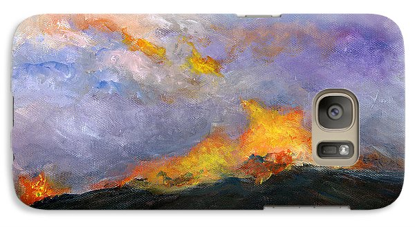 Galaxy Case featuring the painting Colorado Wild Fire by Lenora  De Lude
