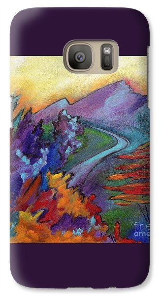 Galaxy Case featuring the painting Colordance by Elizabeth Fontaine-Barr