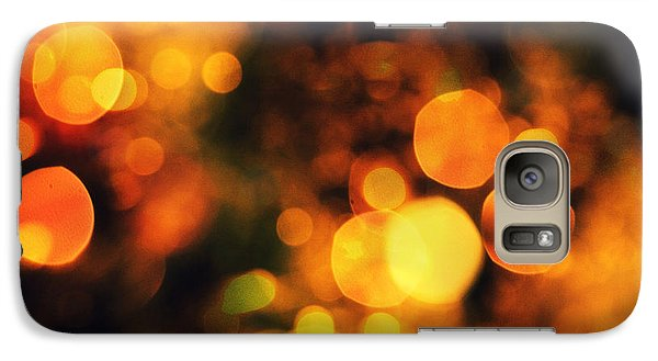 Galaxy Case featuring the digital art Coloured Bokeh Lights by Fine Art By Andrew David