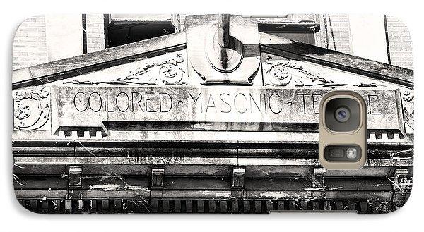 Galaxy Case featuring the photograph Colored Masonic Temple by Davina Washington