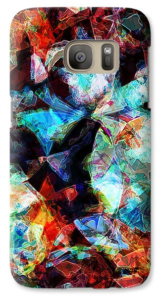 Galaxy Case featuring the digital art Colorful Abstract Design by Phil Perkins