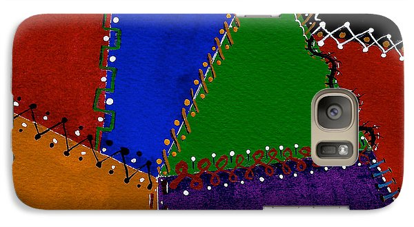 Galaxy Case featuring the painting Colorful And Crazy Patchwork Quilt by Nan Wright
