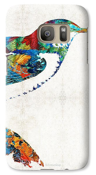Finch Galaxy S7 Case - Colorful Bird Art - Sweet Song - By Sharon Cummings by Sharon Cummings