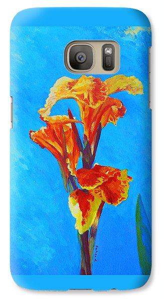 Galaxy Case featuring the painting Colorful Canna by Margaret Saheed