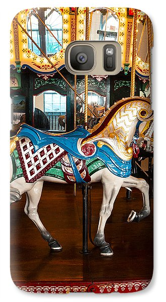 Galaxy Case featuring the photograph Colorful Carousel Horse by Jerry Cowart