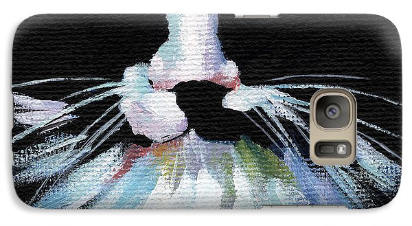 Galaxy Case featuring the painting Colorful Cat by Natasha Denger