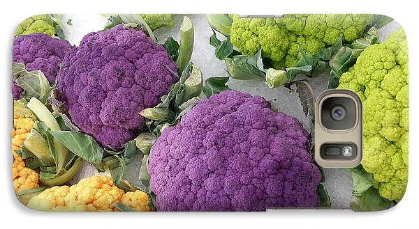 Galaxy Case featuring the photograph Colorful Cauliflower by Caryl J Bohn