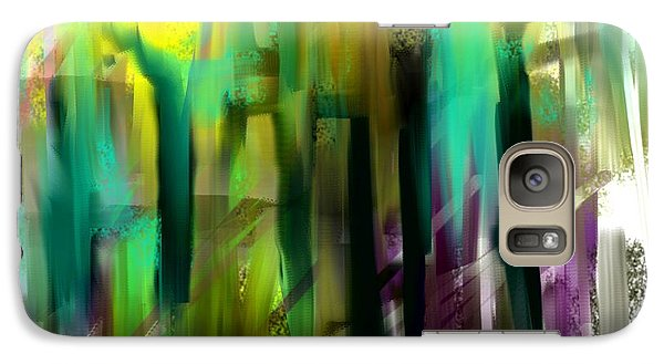 Galaxy Case featuring the painting Colorful City by Jessica Wright