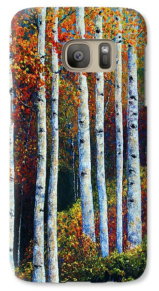 Galaxy Case featuring the painting Colorful Colordo Aspens by Jennifer Godshalk