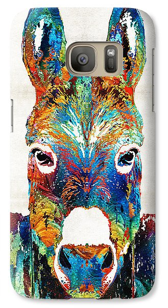 Colorful Donkey Art - Mr. Personality - By Sharon Cummings Galaxy S7 Case