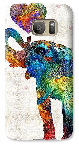 Colorful Elephant Art - Elovephant - By Sharon Cummings Galaxy Case by Sharon Cummings