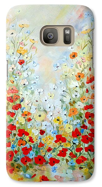 Galaxy Case featuring the painting Colorful Field Of Poppies by Dorothy Maier