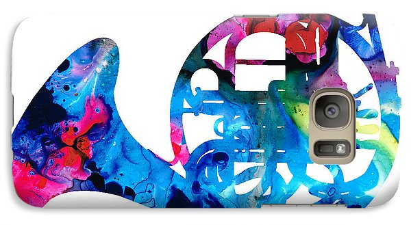 Colorful French Horn 2 - Cool Colors Abstract Art Sharon Cummings Galaxy S7 Case