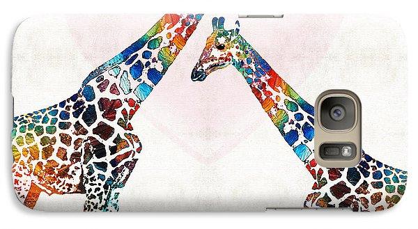 Colorful Giraffe Art - I've Got Your Back - By Sharon Cummings Galaxy Case by Sharon Cummings