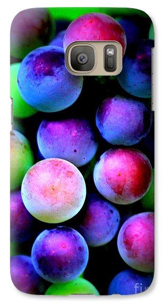Colorful Grapes - Digital Art Galaxy Case by Carol Groenen