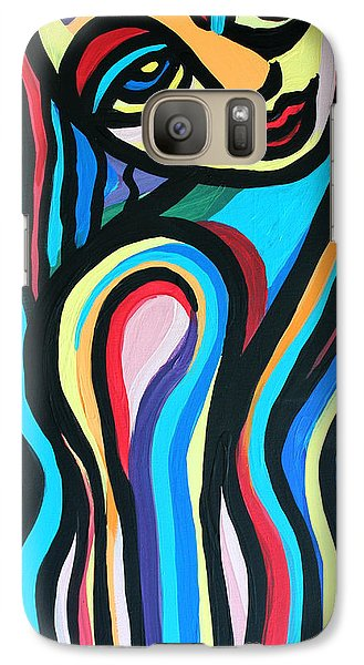 Galaxy Case featuring the painting Colorful Lady  by Cynthia Snyder