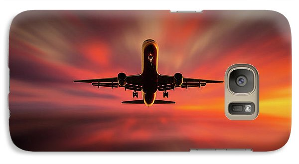 Airplanes Galaxy S7 Case - Colorful Landing. by Leif L?ndal