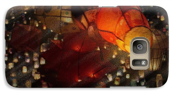 Galaxy Case featuring the photograph Colorful Lanterns by Zinvolle Art
