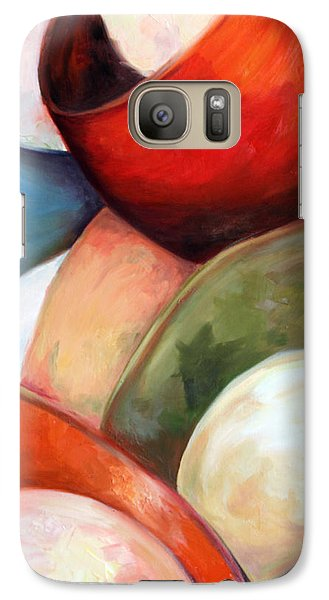 Galaxy Case featuring the painting Colorful Lights by Meaghan Troup