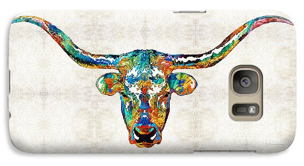 Colorful Longhorn Art By Sharon Cummings Galaxy S7 Case