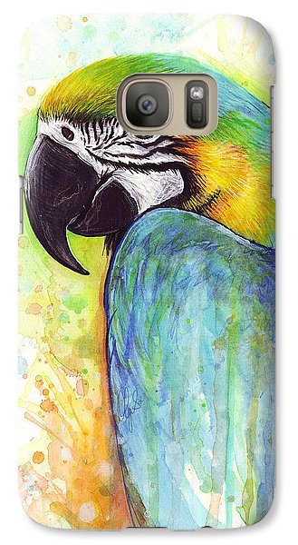 Macaw Painting Galaxy S7 Case