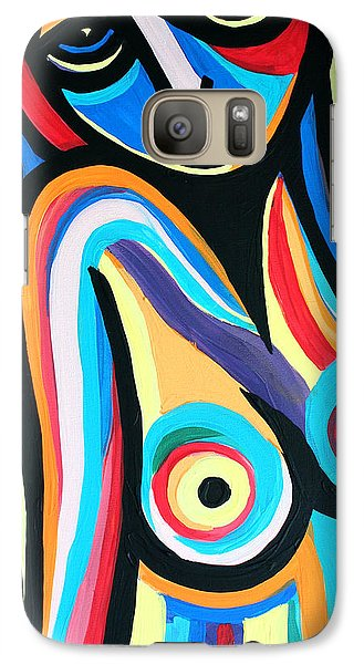 Galaxy Case featuring the painting Colorful Nude Lady by Cynthia Snyder