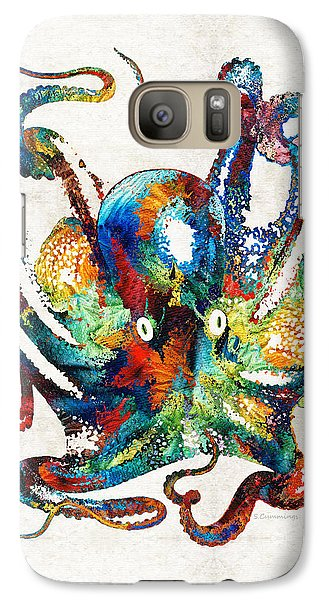 Colorful Octopus Art By Sharon Cummings Galaxy S7 Case