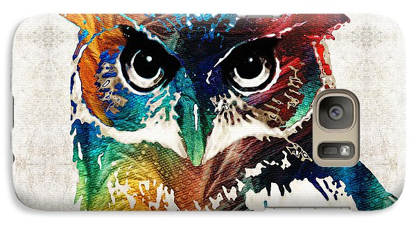 Colorful Owl Art - Wise Guy - By Sharon Cummings Galaxy Case by Sharon Cummings