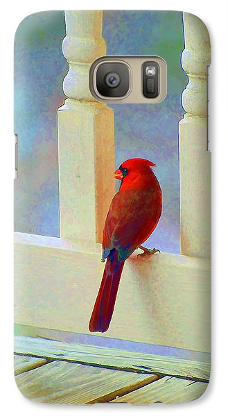 Galaxy Case featuring the photograph Colorful Redbird by Kenny Francis