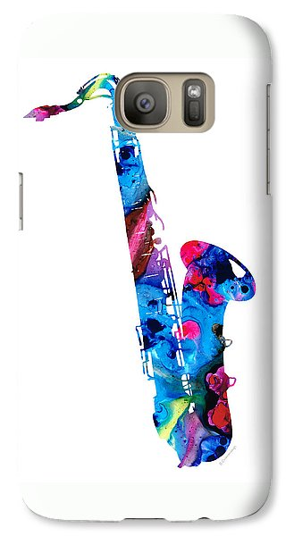 Music Galaxy S7 Case - Colorful Saxophone 2 By Sharon Cummings by Sharon Cummings
