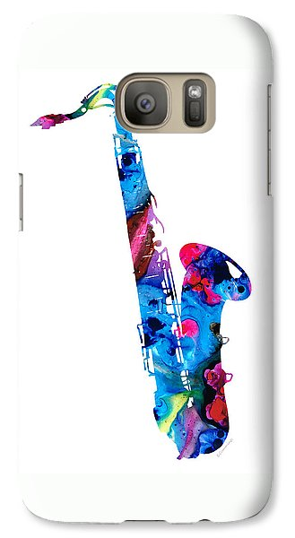 Colorful Saxophone 2 By Sharon Cummings Galaxy S7 Case