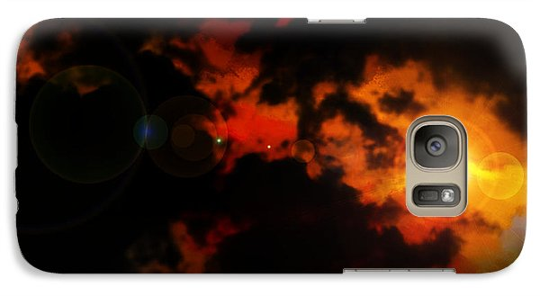 Galaxy Case featuring the painting Colorful Sky by Persephone Artworks