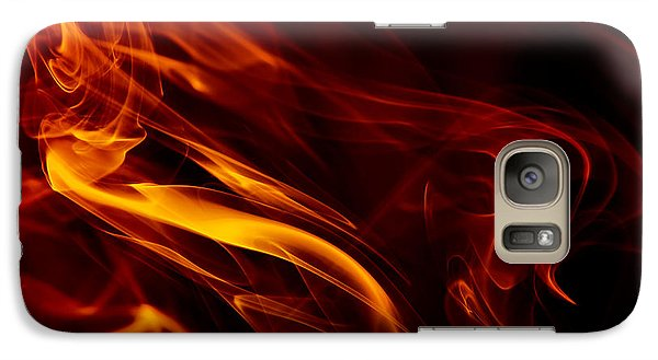 Galaxy Case featuring the photograph Colorful Smoke Trails by Sebastien Coursol