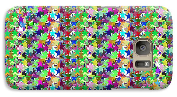 Galaxy Case featuring the photograph Colorful Star Graphics Decorations by Navin Joshi