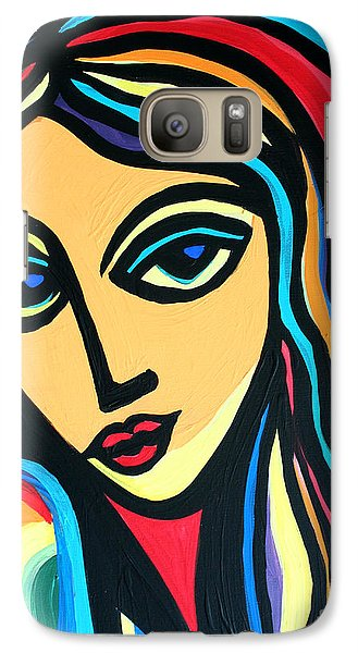 Galaxy Case featuring the painting Colorful Stare by Cynthia Snyder