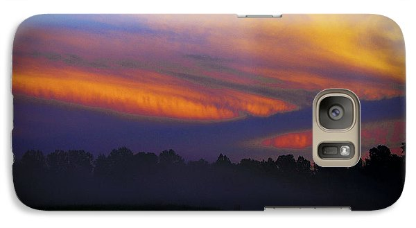 Galaxy Case featuring the photograph Colorful Sunset by Debra Crank