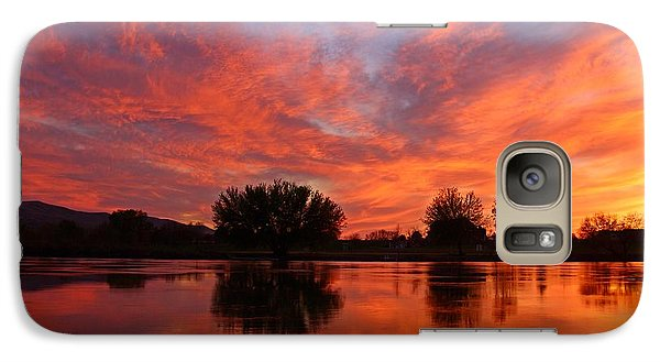 Galaxy Case featuring the photograph Colorful Sunset by Lynn Hopwood