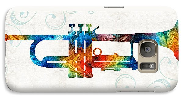 Colorful Trumpet Art Color Fusion By Sharon Cummings Galaxy S7 Case by Sharon Cummings