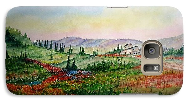 Galaxy Case featuring the painting Colorful Tuscany by Richard Benson