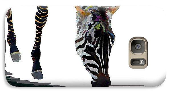 Galaxy Case featuring the digital art Colorful Zebra 2 by Teresa Zieba