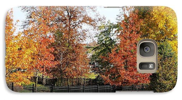 Galaxy Case featuring the photograph Colors Of Fall by Judy Palkimas
