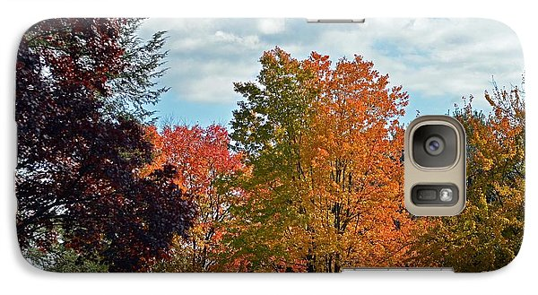Galaxy Case featuring the photograph Colors Of Fall by Judy Wolinsky