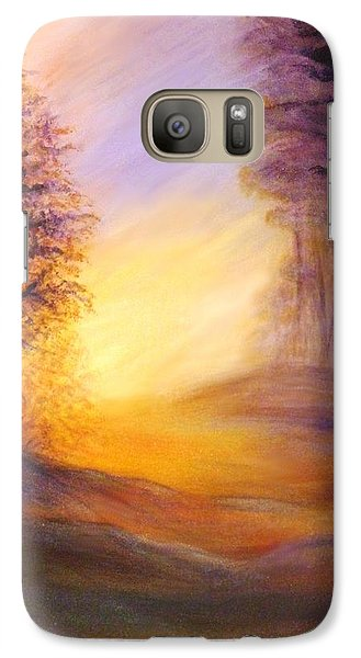Galaxy Case featuring the painting Colors Of The Morning Light by Lilia D