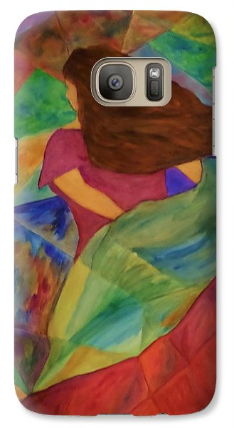 Galaxy Case featuring the painting Colors Of The Wind by Christy Saunders Church