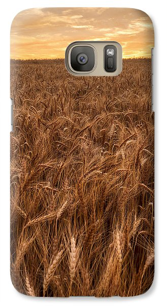 Galaxy Case featuring the photograph Colors Of Wheat by Scott Bean
